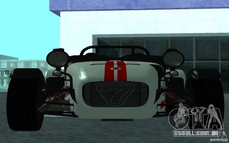 Caterham R500 para GTA San Andreas esquerda vista