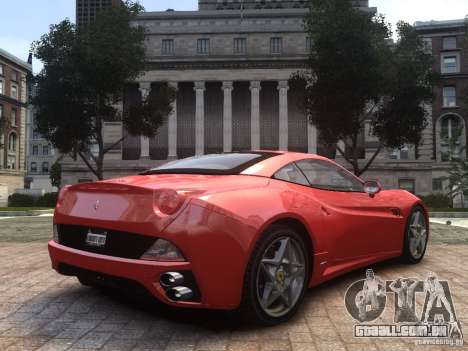 Ferrari California 2009 para GTA 4 esquerda vista