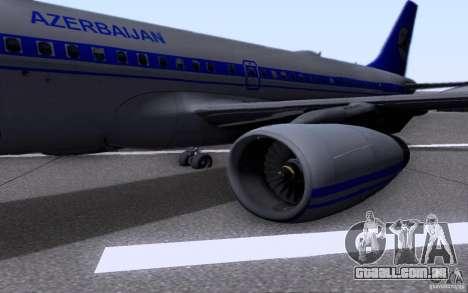 Airbus A-319 Azerbaijan Airlines para GTA San Andreas vista traseira