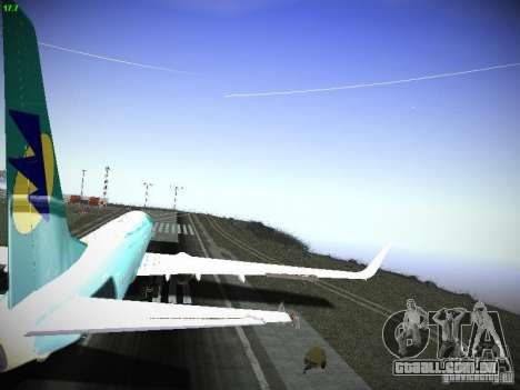 Boeing 737-84R AeroSvit Ukrainian Airlines para GTA San Andreas vista interior