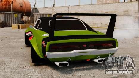 Dodge Charger RT SharkWide para GTA 4 traseira esquerda vista