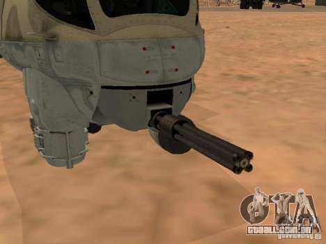 Mi-24 p para GTA San Andreas vista inferior