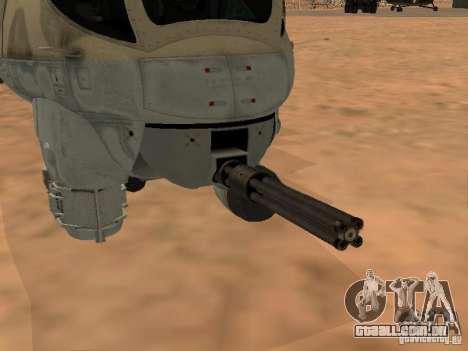 Mi-24 p para GTA San Andreas vista inferior
