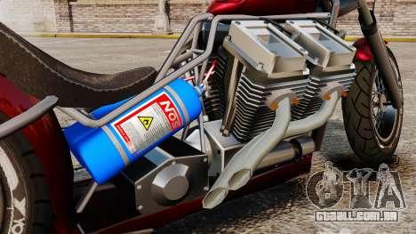 Dragbike Street Racer para GTA 4 vista de volta