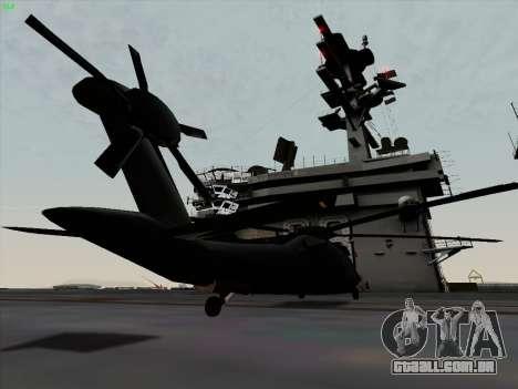 MH-X Stealthhawk para GTA San Andreas traseira esquerda vista