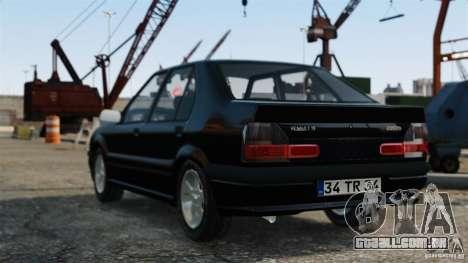 Renault 19 RL para GTA 4 esquerda vista