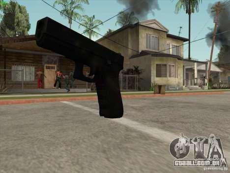 Arma G18 para GTA San Andreas por diante tela