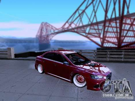 Mitsubishi Lancer Evolution X v2 Make Stance para GTA San Andreas esquerda vista