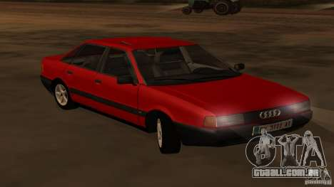 Audi 80 B3 v2.0 para GTA San Andreas vista direita