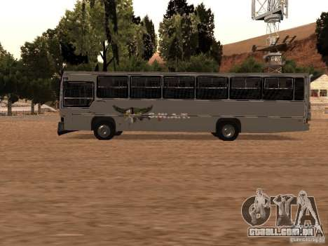 Mercedes Benz SWAT Bus para GTA San Andreas esquerda vista