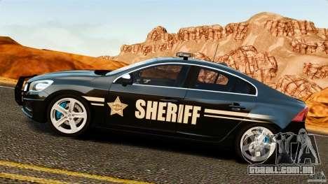 Volvo S60 Sheriff para GTA 4 esquerda vista