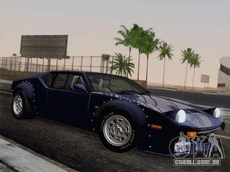 De Tomaso Pantera GT4 para GTA San Andreas vista traseira