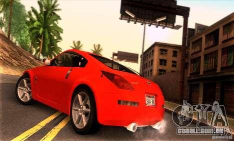 Nissan 350Z Tunable para GTA San Andreas esquerda vista