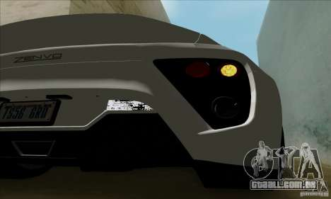 Zenvo ST1 2010 para GTA San Andreas vista direita
