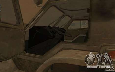 GÁS-3937 Vodnik para GTA San Andreas vista interior