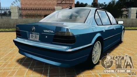 BMW 750iL E38 1998 para GTA 4 traseira esquerda vista