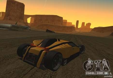 Guarda para GTA San Andreas vista traseira