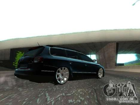 Volkswagen Passat B6 Variant Com Bentley 20 Fixa para GTA San Andreas vista traseira