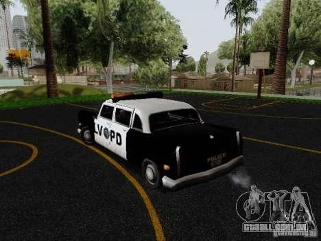 Cabbie Police LV para GTA San Andreas traseira esquerda vista