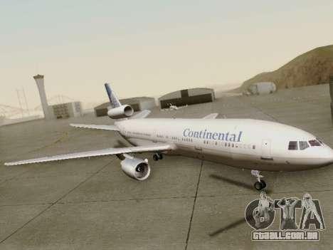 McDonell Douglas DC-10-30 Continental para GTA San Andreas