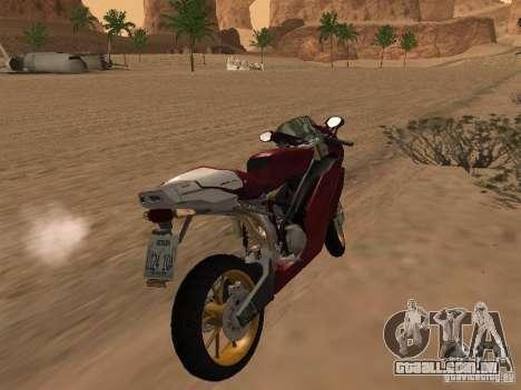 Ducati 999R para GTA San Andreas vista traseira