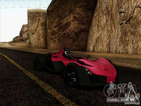 BAC MONO para GTA San Andreas traseira esquerda vista