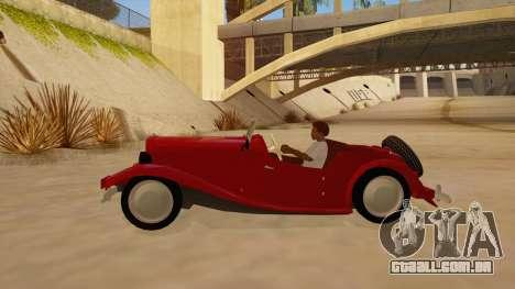 MG Augest para GTA San Andreas esquerda vista