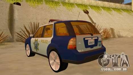 Saab 9-7X Police para GTA San Andreas traseira esquerda vista