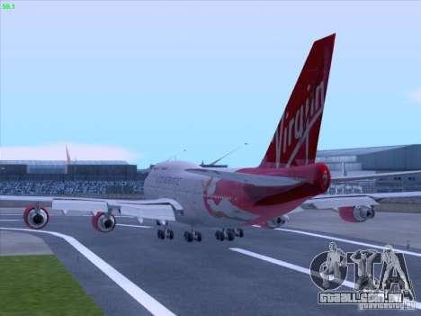 Boeing 747-4Q8 Lady Penelope para GTA San Andreas vista traseira