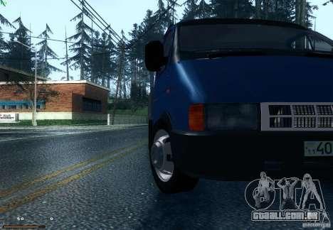Gazela 33021 para GTA San Andreas traseira esquerda vista
