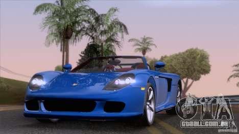 Porsche Carrera GT Custom para GTA San Andreas traseira esquerda vista