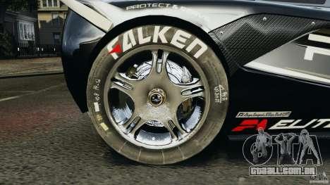 McLaren F1 ELITE Police para GTA 4 vista de volta