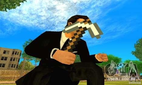Escolher o jogo Minecraft para GTA San Andreas segunda tela