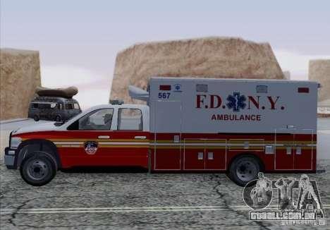 Dodge Ram Ambulance para GTA San Andreas vista direita