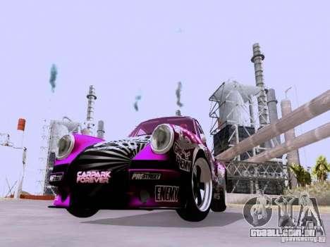 Porsche 911 Pink Power para GTA San Andreas esquerda vista