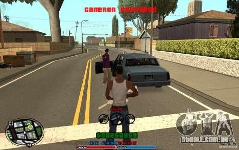 Cleo HUD by Cameron Rosewood V1.0 para GTA San Andreas quinto tela