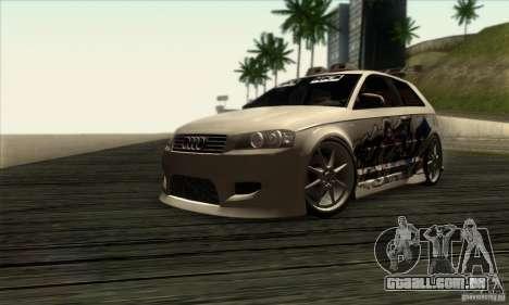 Audi A3 Tunable para GTA San Andreas traseira esquerda vista