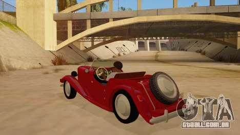 MG Augest para GTA San Andreas traseira esquerda vista