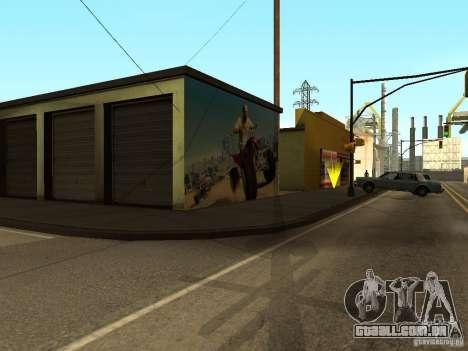 Cartaz de GTA 5 para GTA San Andreas quinto tela