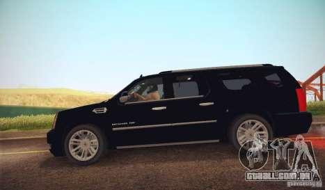 Cadillac Escalade ESV 2012 para GTA San Andreas esquerda vista