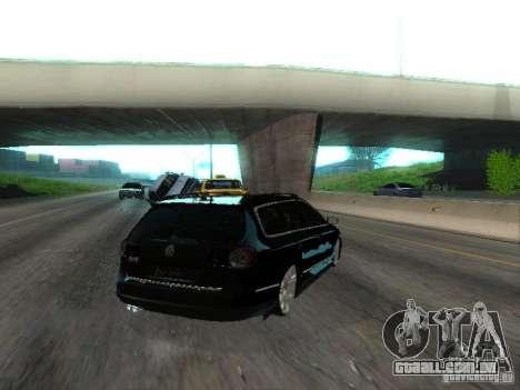 Volkswagen Passat B6 Variant Com Bentley 20 Fixa para GTA San Andreas traseira esquerda vista