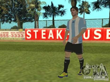 Lionel Messi para GTA San Andreas segunda tela