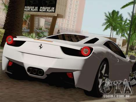 Ferrari 458 Italia 2010 para o motor de GTA San Andreas