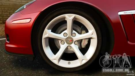 Chevrolet Corvette C6 2010 Convertible para GTA 4 vista superior