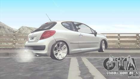 Peugeot 207 RC para GTA San Andreas esquerda vista