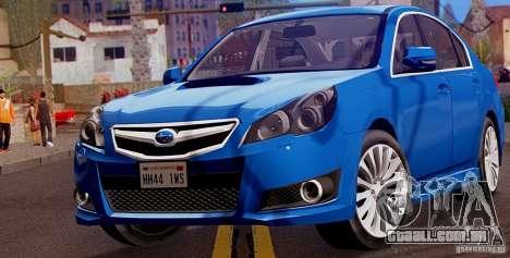 Subaru Legacy B4 2010 para GTA San Andreas esquerda vista