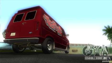 Ford E-150 Gang Burrito para GTA Vice City vista direita