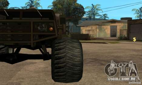 Monster Patriot para GTA San Andreas vista direita