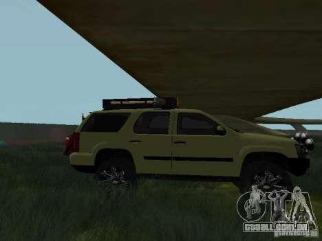 Chevrolet Tahoe Off Road para GTA San Andreas esquerda vista