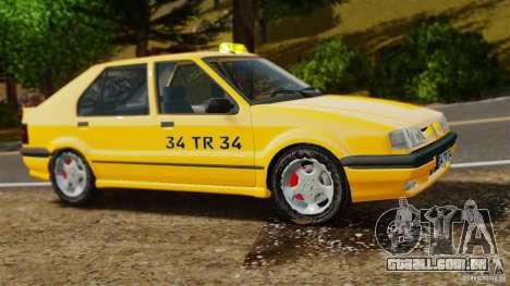 Táxi Renault 19 para GTA 4 esquerda vista